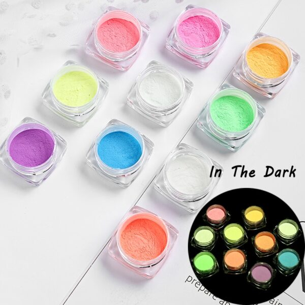 Neon Phosphor Powder Nail Glitter